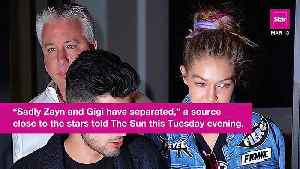 News video: Gigi Hadid And Zayn Malik Have Reportedly Called It Quits