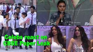News video: CBSE Paper Leak: Celebs left DISAPPOINTED