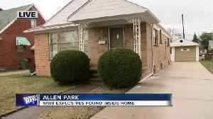 News video: Police conducting retrieval of WWII explosives in Allen Park neighborhood