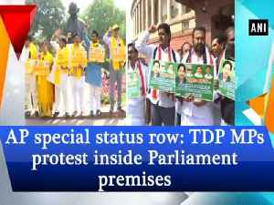 News video: AP special status row: TDP MPs protest inside Parliament premises
