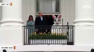 News video: Trump Touts Economy, Military Spending At White House Easter Egg Roll Event