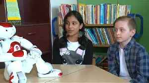 News video: Robots are helping pupils to learn in Finland