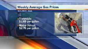 News video: Gas prices in metro Detroit rise again while state price is down
