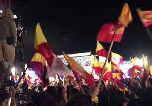 News video: Crowd Celebrates Carlos Alvarado's Election Win in San Pedro