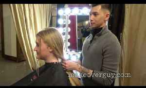 News video: Teenager cuts long hair short, by MAKEOVERGUY Minneapolis
