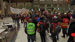 News video: France rail unions wage war on Macron with rolling strikes