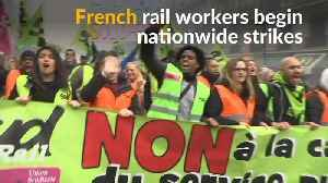 News video: French rail unions taken on Macron with mass nationwide strikes
