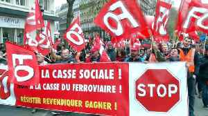 News video: Paris: Chaos for commuters as rail strike disrupts service