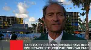 News video: Pak Coach Roelant Oltmans Says India Is The Favourite For The Indo Pak Clash