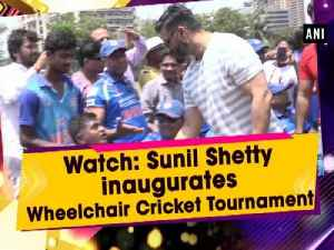 News video: Watch: Sunil Shetty inaugurates Wheelchair Cricket Tournament