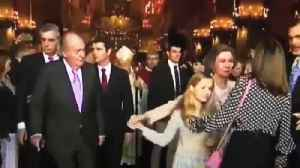 News video: Spain stunned by video of tense scene between Queens Letizia and Sofia