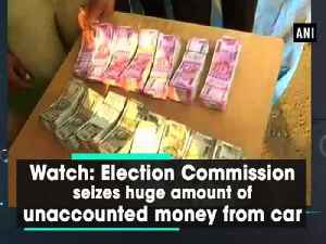 News video: Watch: Election Commission seizes huge amount of unaccounted money from car