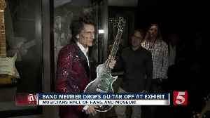 News video: Ronnie Wood Visits Rolling Stones Exhibit