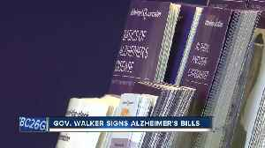 News video: Governor Walker signs Alzheimer's related bills into law