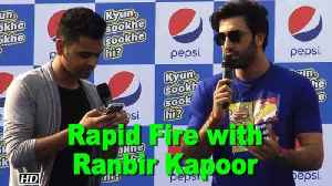 News video: Watch Rapid Fire with Ranbir Kapoor