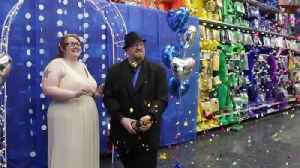 News video: Metro Detroit couple is first to get married at Party City