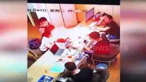 News video: iPhone explodes inside maintenance store in Shanghai
