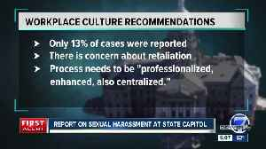 News video: Harassment, bad behavior at Colorado Capitol not widely reported despite prevalence, report finds