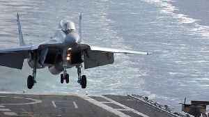 News video: Slow Motion Footage Of Jet Fighter Landing Onto Aircraft Carrier