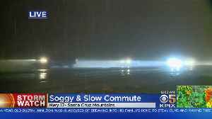 News video: Heavy Rain Makes For Soggy Morning Commute