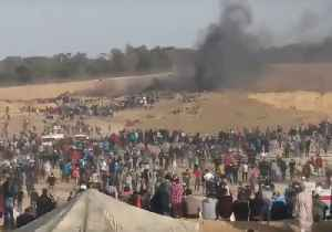 News video: Palestinians Gather in Protest at Gaza-Israel Border