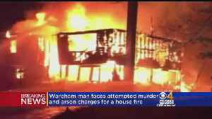 News video: Man Charged With Attacking Woman, Setting Wareham Home On Fire