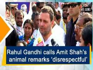 News video: Rahul Gandhi calls Amit Shah's animal remarks 'disrespectful'