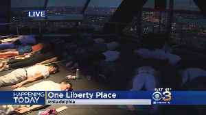 News video: One Liberty Place Celebrates World Health Day With Sky High Yoga