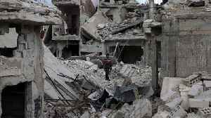 News video: More civilian deaths after air strikes near Damascus in Syria