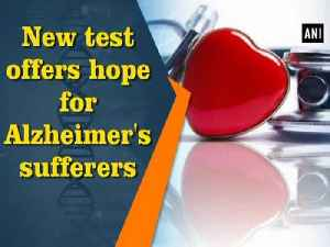 News video: New test offers hope for Alzheimer's sufferers