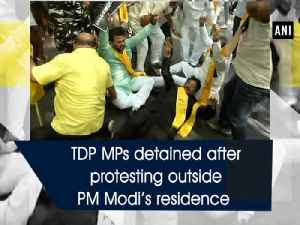 News video: TDP MPs detained after protesting outside PM Modi's residence