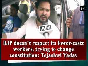 News video: BJP doesn't respect its lower-caste workers, trying to change constitution: Tejashwi Yadav