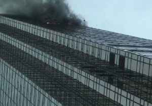 News video: Black Smoke Billows From Trump Tower Fire