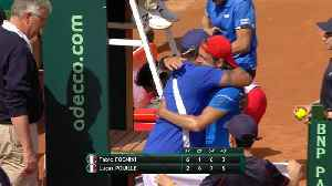 News video: Pouille beats Fognini to clinch Davis Cup semi-final place for France