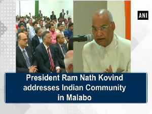 News video: President Ram Nath Kovind addresses Indian Community in Malabo
