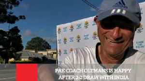 News video: Pak Coach Oltmans Is Happy After 2-2 Draw With India