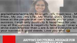News video: Arpita's Emotional Message For Brother Salman