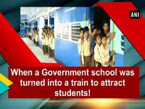 News video: When a Government school was turned into a train to attract students!