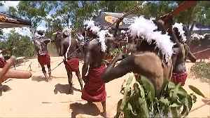 News video: Prince Charles throws football after Aboriginal ceremony