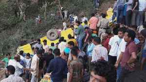 News video: 23 children killed when school bus plunges into gorge in India