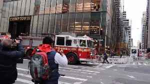 News video: Trump Tower Resident Says She Learned About Deadly Fire on the News
