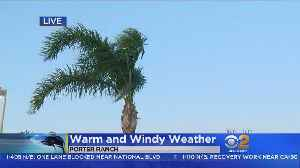News video: Heat, Winds Hit Southern California In The Middle Of Spring