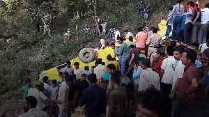 News video: At Least 27 Children Dead After School Bus Skids Off Mountain in India