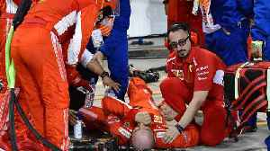 News video: Watch: Ferrari Pit Crew member Suffers HORRIFIC Injury After Car Runs Him Over!