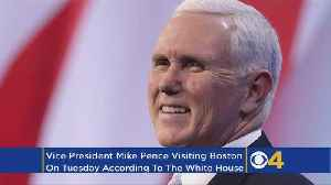 News video: Vice President Mike Pence Coming To Boston Tuesday