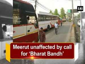 News video: Meerut unaffected by call for 'Bharat Bandh'