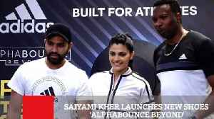 News video: Saiyami Kher Launches New Shoes 'Alphabounce Beyond'