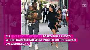 News video: No Pictures! Kim Kardashian Couldn't Stop Kids From Crying During 1st Family Photoshoot With Chicago