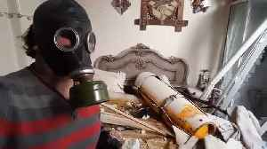 News video: Video purports to show missile used in suspected chemical attack