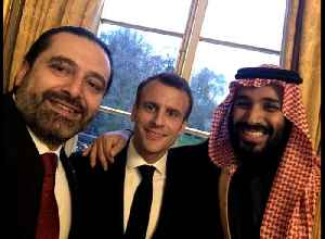News video: Lebanon's Hariri publishes another selfie online with France's Macron and Saudi crown prince